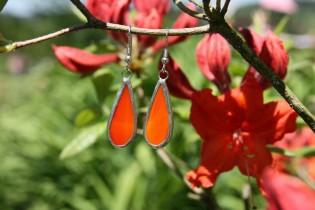 earrings red long - Tiffany jewelry