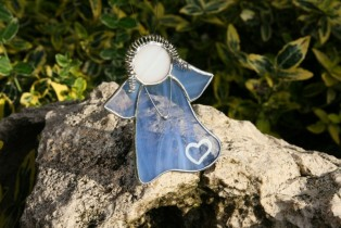 Angel blue with heart - Tiffany jewelry