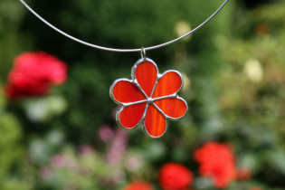 jewel flower red - Tiffany jewelry