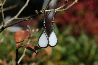 earrings white with patina - Tiffany jewelry
