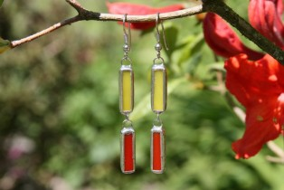 earrings red and yellow - Tiffany jewelry