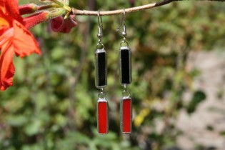 earrings red and black - Tiffany jewelry