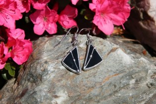 earrings black decorated - Tiffany jewelry