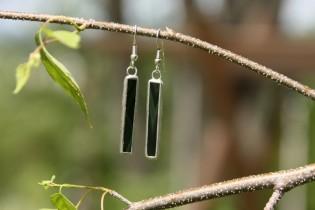 earrings dark green long - Tiffany jewelry
