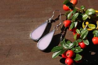 earrings pink long - Tiffany jewelry