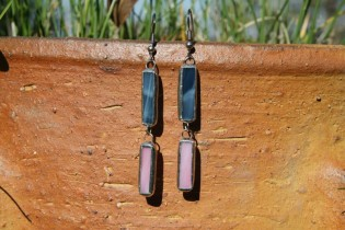 earrings blue and pink - Tiffany jewelry