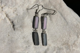 earrings grey and pink - Tiffany jewelry