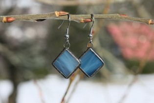 earrings blue with patina - Tiffany jewelry