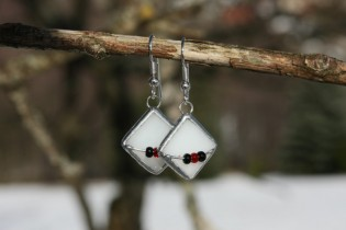 earrings white with beads - Tiffany jewelry