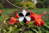 jewel flower white and black - Tiffany jewelry