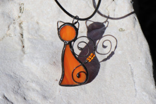 orange cat - Tiffany jewelry