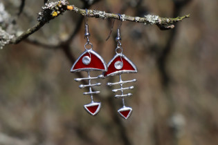earrings fish red - Tiffany jewelry