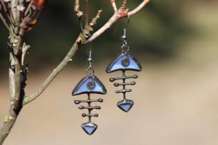 earrings fish blue - Tiffany jewelry