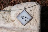 jewel white with blue - Tiffany jewelry