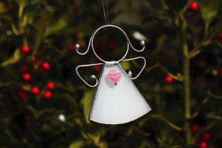 little angel with a white heart  - Tiffany jewelry