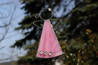 pink angel with flowers  - Tiffany jewelry